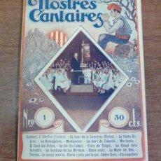 Catálogos de Música: NOSTRES CANTAIRES. NÚM. 1, 1932. PRIMERO DE LA COLECCIÓN.. Lote 34403537