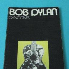 Catálogos de Música: BOB DYLAN. CANCIONES. Lote 34848779