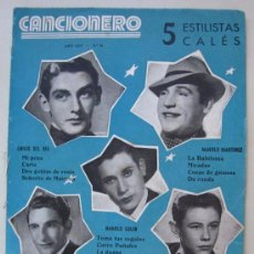 Catálogos de Música: CANCIONERO - 5 ESTILISTAS CALÉS - EMILIO DEL RÍO, MANOLO MARTÍNEZ, RAÚL MARZO, M. SOLER Y PEPE TENA. Lote 35227623