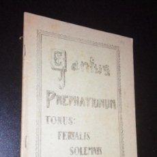 Catálogos de Música: CANTUS PREPHATIONUM / EDICION PRIVADA 1952 LEON. Lote 35390604