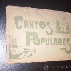 Catálogos de Música: CANTOS POPULARES . Lote 35391257