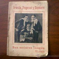 Catálogos de Música: IRUSTA,FURGASOT Y DEMARE-SUS MEJORES TANGOS-IMP- GARROFÉ BARCELONA. Lote 35479733