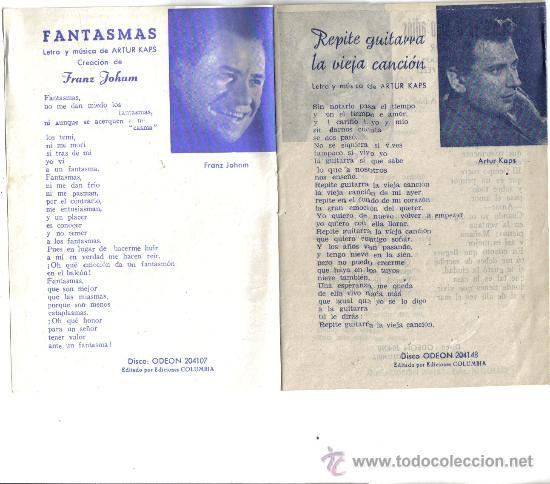 Catálogos de Música: CANCIONERO DE, MELODIAS DEL DANUBIO, PRIMERA OBRA DE LOS AUSTRIACOS, FRANKZ JOHAM ,ARTUR KAPS - Foto 3 - 35532520