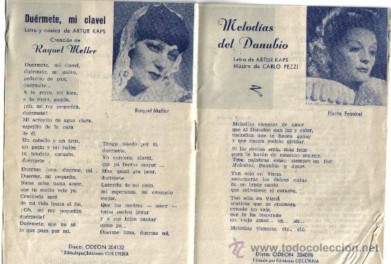 Catálogos de Música: CANCIONERO DE, MELODIAS DEL DANUBIO, PRIMERA OBRA DE LOS AUSTRIACOS, FRANKZ JOHAM ,ARTUR KAPS - Foto 2 - 35532520