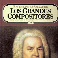 Catalogues de Musique: ENCICLOPEDIA SALVAT.LOS GRANDES COMPOSITORES.SALVAT.PHILIS.FASCICULO Y CASETE Nº 24.BACH.. Lote 35873757