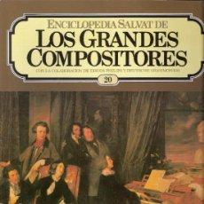 Catálogos de Música: ENCICLOPEDIA SALVAT.LOS GRANDES COMPOSITORES.SALVAT.PHILIS.FASCICULO Y CASETE Nº 20. LISZT.. Lote 35873981