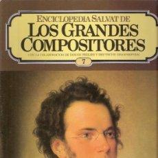Catálogos de Música: ENCICLOPEDIA SALVAT.LOS GRANDES COMPOSITORES.SALVAT.PHILIS.FASCICULO Y CASETE Nº 7.SCHUBERT.. Lote 35874510