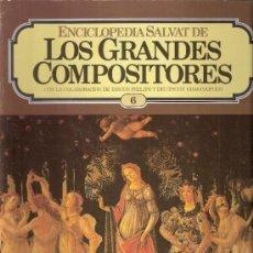 Catálogos de Música: ENCICLOPEDIA SALVAT.LOS GRANDES COMPOSITORES.SALVAT.PHILIS.FASCICULO Y CASETE Nº 6. BEETHOVEN.. Lote 35874558