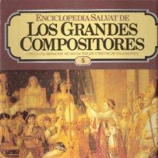 Catálogos de Música: ENCICLOPEDIA SALVAT.LOS GRANDES COMPOSITORES.SALVAT.PHILIS.FASCICULO Y CASETE Nº 5. BEETHOVEN.. Lote 35874618