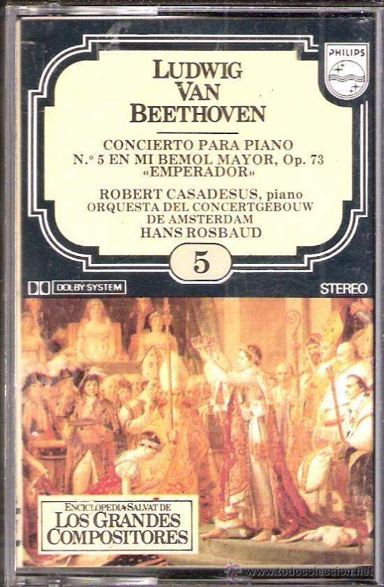 Catálogos de Música: Enciclopedia Salvat.Los Grandes Compositores.Salvat.Philis.Fasciculo y Casete Nº 5. Beethoven. - Foto 3 - 35874618