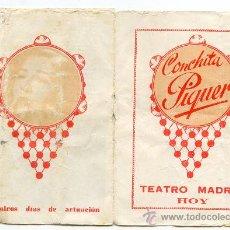 Catálogos de Música: CONCHITA PIQUER EN EL TEATRO MADRID, CON SALERO DE ESPAÑA, DE QUINTERO, LEÓN Y QUIROGA. Lote 36052983