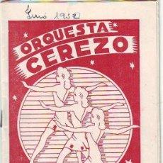 Catálogos de Música: CÁCERES. ORQUESTA CEREZO 1950 (LEER). Lote 36129507