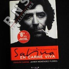 Catálogos de Música: YO TAMBIÉN SÉ JUGARME LA BOCA SABINA EN CARNE VIVA BIOGRAFÍA JOAQUÍN CANTAUTOR MÚSICA LIBRO TAP DURA. Lote 36180132