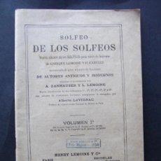 Catálogos de Música: LIBRO SOLFEO DE LOS SOLFEOS VOLUMEN 2 HENRY LEMOINE & G. CARULLI . Lote 36838459