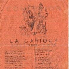 Catálogos de Música: CANCIONERO DE 4 PÁGINAS - VER CANCIONES EN DESCRIPCIÓN - IMPRENTA PALOU - BARCELONA. Lote 37022758