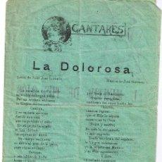 Catálogos de Música: CANCIONERO DE 4 PÁGINAS - VER CANCIONES EN DESCRIPCIÓN - IMPRENTA PALOU - BARCELONA. Lote 37022961