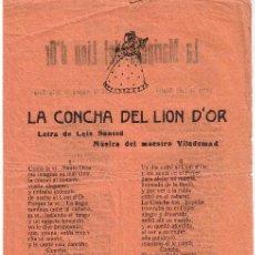 Catálogos de Música: CANCIONERO DE 4 PÁGINAS - VER CANCIONES EN DESCRIPCIÓN. Lote 37023001
