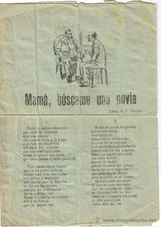 CANCIONERO DE 4 PÁGINAS - VER CANCIONES EN DESCRIPCIÓN - IMPRENTA INGLESA - BARCELONA (Música - Catálogos de Música, Libros y Cancioneros)