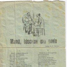 Catálogos de Música: CANCIONERO DE 4 PÁGINAS - VER CANCIONES EN DESCRIPCIÓN - IMPRENTA INGLESA - BARCELONA. Lote 37036025