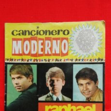 Catálogos de Música: CANCIONERO MODERNO, RAPHAEL CANCIONERO HISTÓRICO 10 AÑOS DE TRIUNFO, 12 PÁG. AÑO 1971. Lote 37411274
