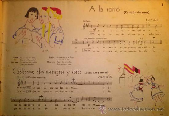 Catálogos de Música: RARISIMO CANCIONERO POPULAR DE LA FALANGE AÑOS 40 - Foto 2 - 37592842