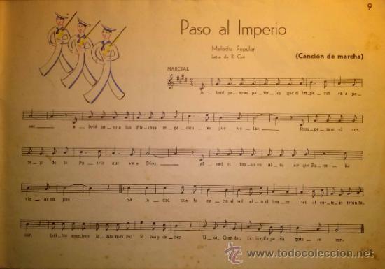 Catálogos de Música: RARISIMO CANCIONERO POPULAR DE LA FALANGE AÑOS 40 - Foto 7 - 37592842