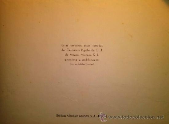 Catálogos de Música: RARISIMO CANCIONERO POPULAR DE LA FALANGE AÑOS 40 - Foto 3 - 37592842