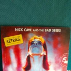 Catálogos de Música - NICK CAVE AND THE BAD SEEDS - LET LOVE IN ( LETRAS ) - 37597206