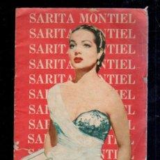 Catálogos de Música: SARA MONTIEL. CANCIONERO, BIOGRAFIA Y ACTUACIONES EN LA HABANA. CON VARIOS ANUNCIOS PUBLICITARIOS.. Lote 37977903
