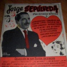 Catálogos de Música: CANCIONERO JORGE SEPULVEDA. Lote 38141852