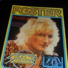 Catálogos de Música: POSTER DE LA REVISTA POPULAR 1. Nº 2. ROD STEWART. TAMAÑO 50X80 CM.. Lote 38187685