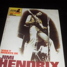 Catálogos de Música: POPULAR 1. REVISTA DE MUSICA. JIMI HENDRIX. ESPECIAL 6. VIDA Y MUERTE DE JIMI HENDRIX. Lote 38187838
