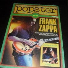 Catálogos de Música: POPSTER Nº 31. FRANK ZAPPA. REVISTA DE MUSICA. 1979. Lote 38190032