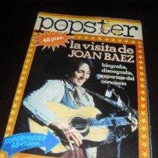 Catálogos de Música: POPSTER Nº 20. JOAN BAEZ. REVISTA DE MUSICA. 1978. Lote 38190277