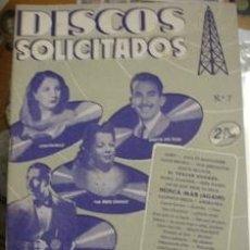 Catálogos de Música: DISCOS SOLICITADOS EDICIONES BISTAGNE Nº7. Lote 38445752