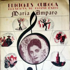 Catálogos de Música: (VR609) CANCIONERO EDICIONES QUIROGA - 1948 - MARIA AMPARO - JUANITA REINA. Lote 38490309