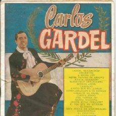 Catálogos de Música: == V38 - CANCIONERO - CARLOS GARDEL. Lote 38540913