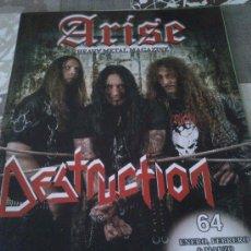 Catálogos de Música: ARISE HEAVY METAL MAGAZINE ENERO,FEBRERO & MARZO 2011. DESTRUCTION.. Lote 38598104