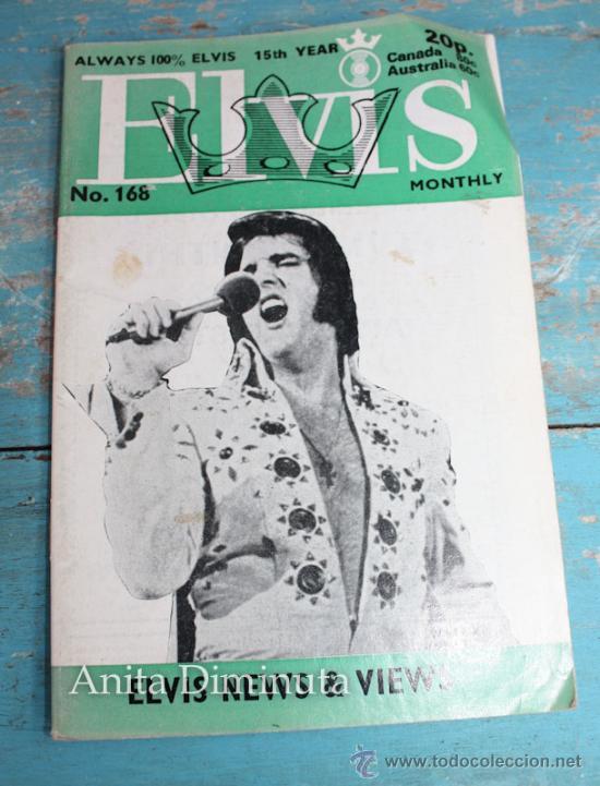 ANTIGUA REVISTA - ELVIS MONTHLY - ALWAYS 100% ELVIS NUMERO 168 - ENERO DE 1974 - MULTITUD DE FOTOGRA (Música - Catálogos de Música, Libros y Cancioneros)