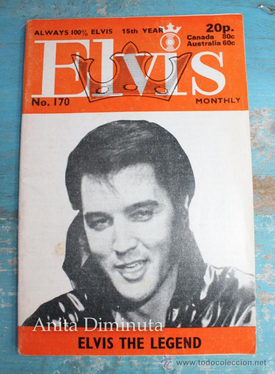 ANTIGUA REVISTA - ELVIS MONTHLY - ALWAYS 100% ELVIS NUMERO 170 - MARZO DE 1974 - MULTITUD DE FOTOGRA (Música - Catálogos de Música, Libros y Cancioneros)