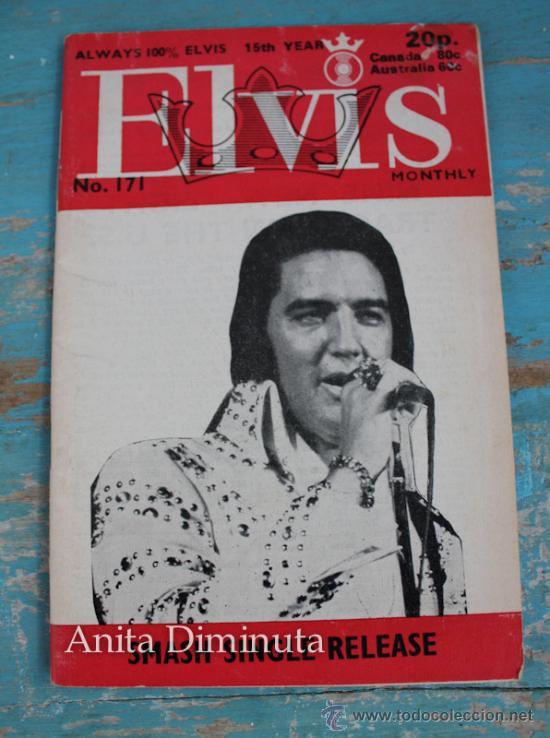 ANTIGUA REVISTA - ELVIS MONTHLY - ALWAYS 100% ELVIS NUMERO 171 - ABRIL DE 1974 - MULTITUD DE FOTOGRA (Música - Catálogos de Música, Libros y Cancioneros)