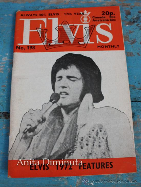 ANTIGUA REVISTA - ELVIS MONTHLY - ALWAYS 100% ELVIS NUMERO 198 - JULIO DE 1976 - MULTITUD DE FOTOGRA (Música - Catálogos de Música, Libros y Cancioneros)