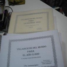Catálogos de Música: VILLANCICOS DEL MUNDO. TEXTO PRO MANUSCRITO A CARGO DE SEBASTIAN URBIETA BERISTAIN. 12 TOMOS. Lote 38668794