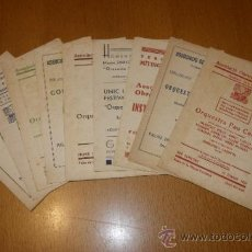 Catálogos de Música - Lote de 9 catalogos Orquestra Pau Casals. Palau de la musica catalana. Associacio obrera de concerts - 39071594