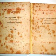 Catálogos de Música: CANCIONERO MUSICAL DE GALICIA. LOS 2 TOMOS. TEXTO Y MELODÍAS. (1942) VER ÍNDICE COMPLETO EN FOTOS. Lote 39452233