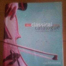 Catálogos de Música: RED CLASSICAL CATALOGUE 2004. Lote 39791584