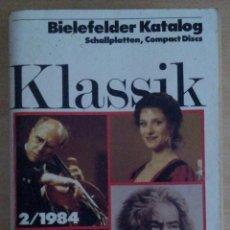 Catálogos de Música: BIELEFELDER KATALOG SCHALLPLATTEN, COMPACT DISCS 2/1984. Lote 39792422
