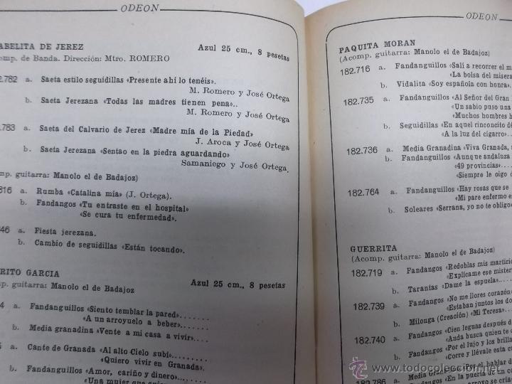 Catálogos de Música: RECOPILACION DE LOS DISCOS PUBLICADOS EN LOS SUPLEMENTOS DE ENERO A JUNIO ODEON 1930 - Foto 5 - 87246579