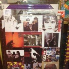 Catálogos de Música: CUADRO REPRODUCCIÓN DE 85X60 CM: U2 TODOS SUS DISCOS EN CARTEL RECOPILATORIO. Lote 40878449