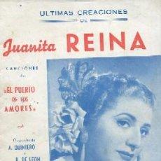 Catálogos de Música: CANCIONERO. JUANITA REINA. CARMEN DE ESPAÑA, NIÑA DE LAS FLORES … A-CANCI-009. Lote 41175003